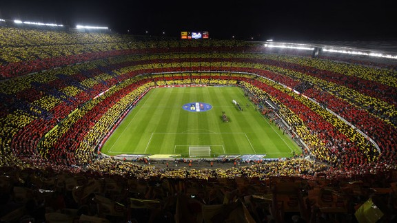 Camp Nou is showing signs of its age.