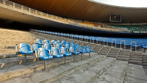 Renovation work at the Maracana Stadium in Brazil