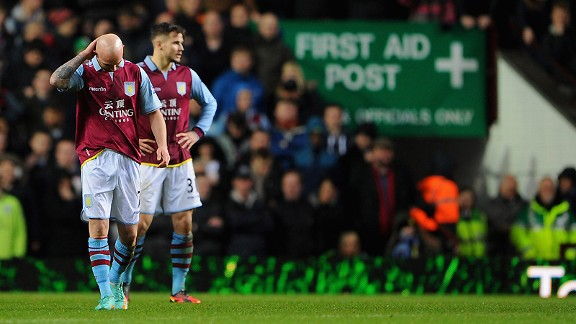Aston Villa are in real danger of being relegated.