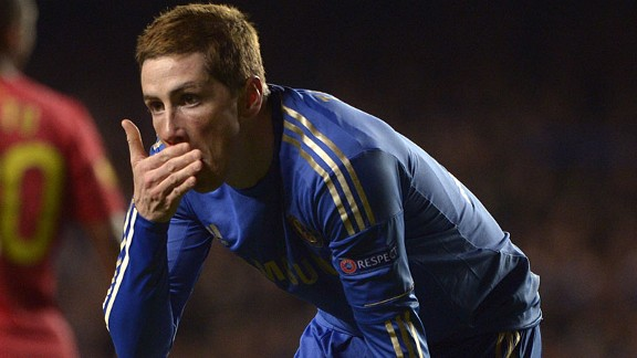Fernando Torres injured face Chelsea