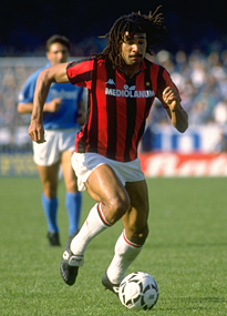 Former AC Milan star Ruud Gullit says playing in Serie A in the late 80s was tougher than playing in Europe.