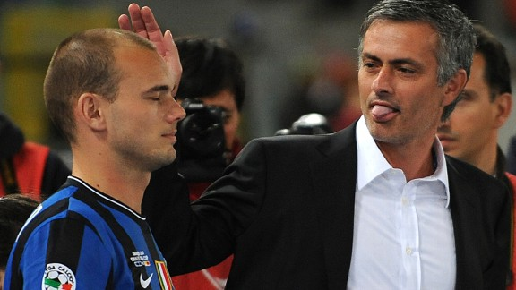 Jose Mourinho won the UCL with Wesley Sneijder at Inter