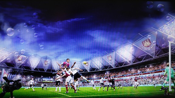 An artists impression of how the Olympic Stadium will look