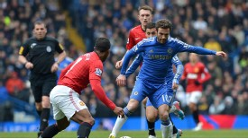 Juan Mata attempts to instigate a Chelsea attack during their FA Cup tie with Manchester United