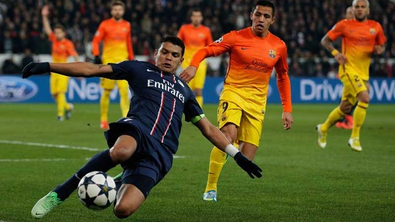 Thiago Silva was superb in the 2-2 draw with Barcelona in Paris