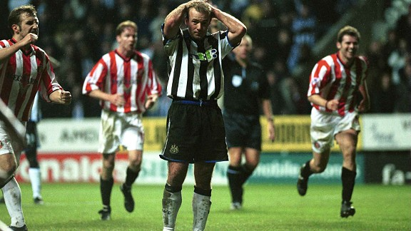 Alan Shearer rues his penalty miss against Sunderland in 2000
