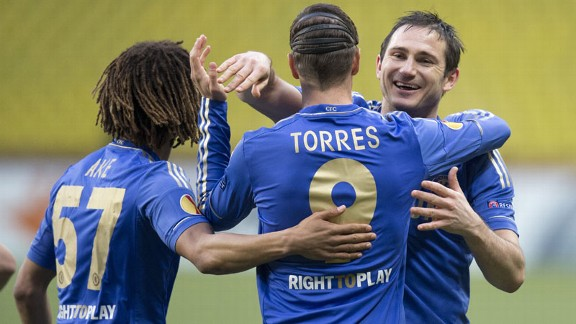 Frank Lampard is delighted to make progress with Chelsea in the Europa League