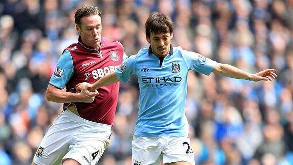 David Silva v Kevin Nolan City v West Ham battle