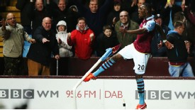 Christian Benteke was the star of the show for Aston Villa