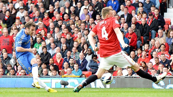 Juan Mata's shot deflected in off Phil Jones for Chelsea's winner at Manchester United