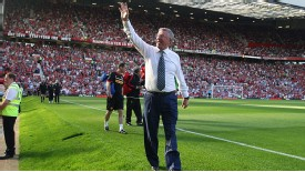Sir Alex Ferguson wave shirt sunny Old Trafford Manchester United