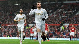 Michu celeb United v Swansea