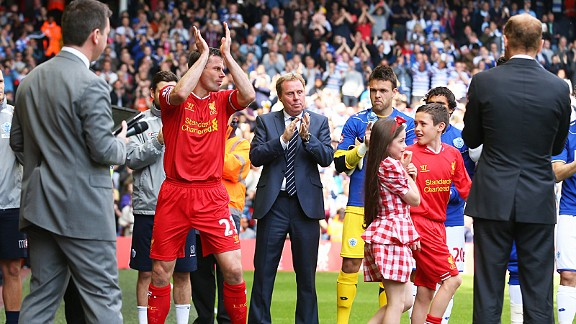 Liverpool's Jamie Carragher made the final appearance of his career against QPR