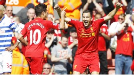 Stewart Downing and Philippe Coutinho were both deployed in wide positions last season