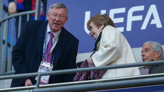 Sir Alex Ferguson found himself in the spotlight at Wembley