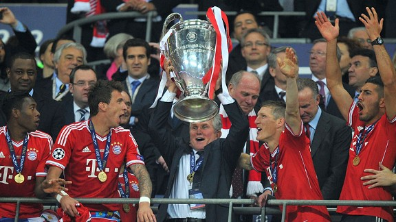 Bayern celebrate their Champions League success