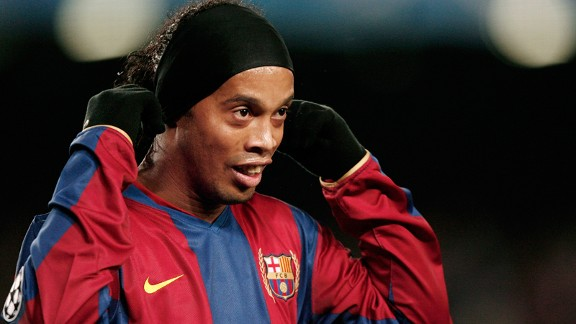 It is thought Ronaldinho used Manchester United's interest to secure a better contract when he joined Barcelona in 2003