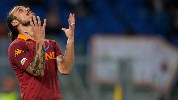 Pablo Daniel Osvaldo: Provides goals and controversy at Roma