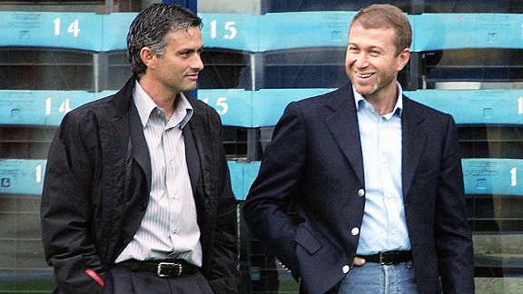Jose Mourinho and Roman Abramovich back in 2004