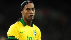 Ronaldinho made a shortlived comeback for Brazil but looks unlikely to be involved in the World Cup