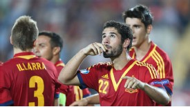 Isco celebrates his penalty for Spain in the Under-21 European Championships final