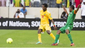 Minyahile Beyene of Ethiopia in action during the 2013 African Cup of Nations