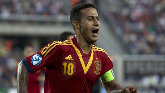 Thiago Alcantara was Spain's main man in the Under-21 European Championship final