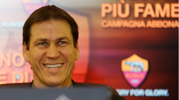 New Roma coach Rudi Garcia is targeting a European spot.