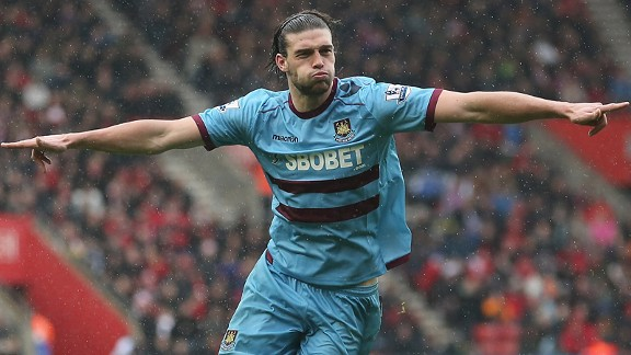 Andy Carroll has the best aerial success rate in Europe's big leagues