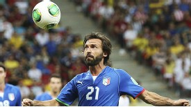 Andrea Pirlo suffered an injury in the thrilling win over Japan