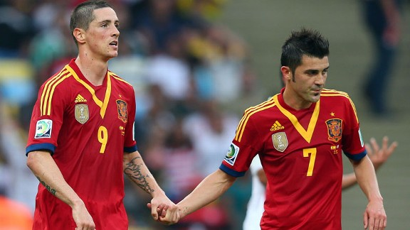 Spain strikers Fernando Torres and David Villa have fallen out of favour under Vicente del Bosque