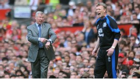Sir Alex Ferguson David Moyes shout watch time