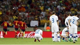 Italy fell agonisingly short in the Confederations Cup semi-final against Spain