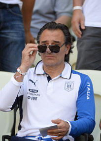 Cesare Prandelli maintains a façade of calm ahead of Italy's semi-final