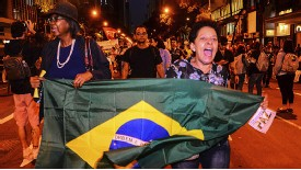 Protesters on the streets of Belo Horizonte
