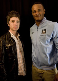 Former Oasis guitarist Noel Gallagher is a famous Man City fan