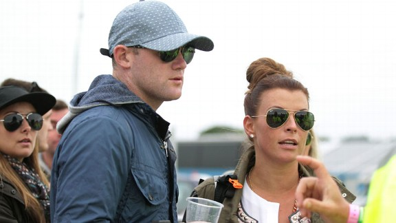 Wayne Rooney has been a regular at music festivals including Glastonbury