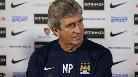 Manuel Pellegrini Manchester City press conference