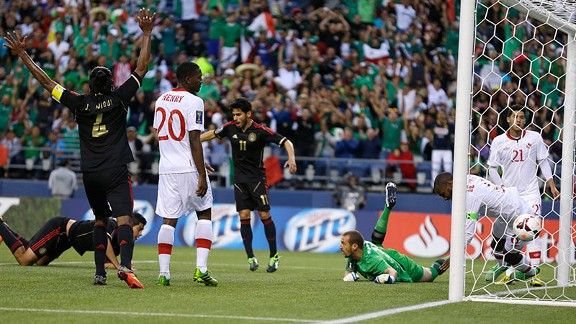 Raul Jimenez's header opened the scoring for Mexico.
