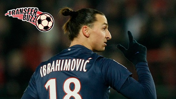 PSG striker Zlatan Ibrahimovic could be heading for Manchester City.