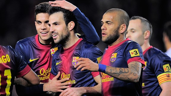 Only goalkeeper Victor Valdes started more games for Barcelona in La Liga last season than Cesc Fabregas.