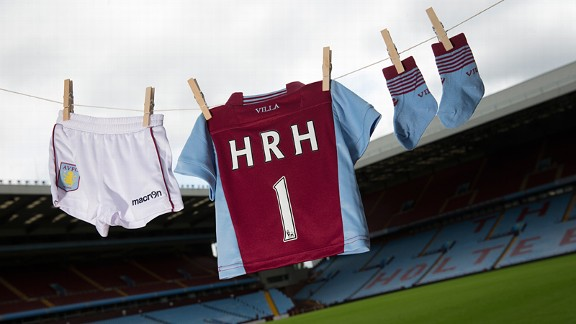 Aston Villa jump on the Royal birth bandwagon.