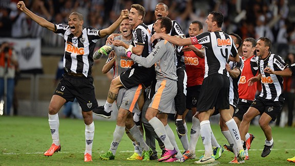 Atletico Mineiro celebrate their triumph