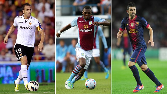 Spurs targets Roberto Saldado, Christian Benteke and David Villa.