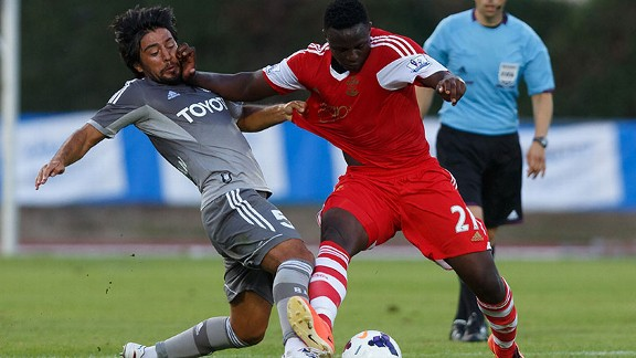 Victor Wanyama impressed for Southampton against Besiktas.