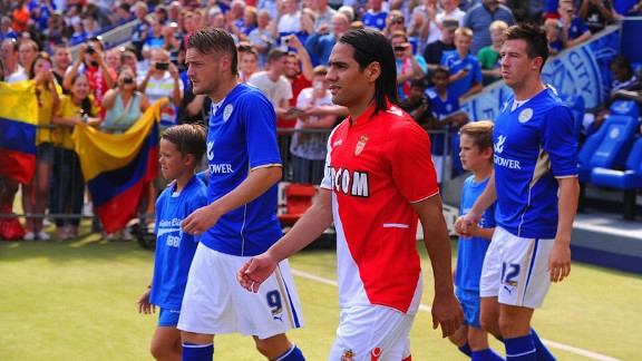 Radamel Falcao  was the star attraction before a sparse crowd at the King Power Stadium.