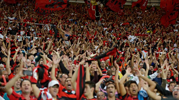 Flamengo fans were charged $40 to watch the traditional Rio de Janeiro derby against Botafogo in the new Maracana Stadium.