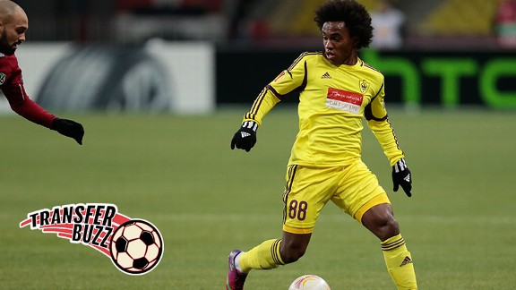 Willian could join his third club in a year if rumours are to be believed.