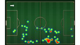 Antonio Valencia spent most of the game hugging the right side of the Man United attack.Antonio Valencia Heat Map