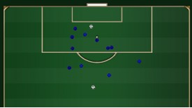 Chelsea shots v Hull, first 25 minutes